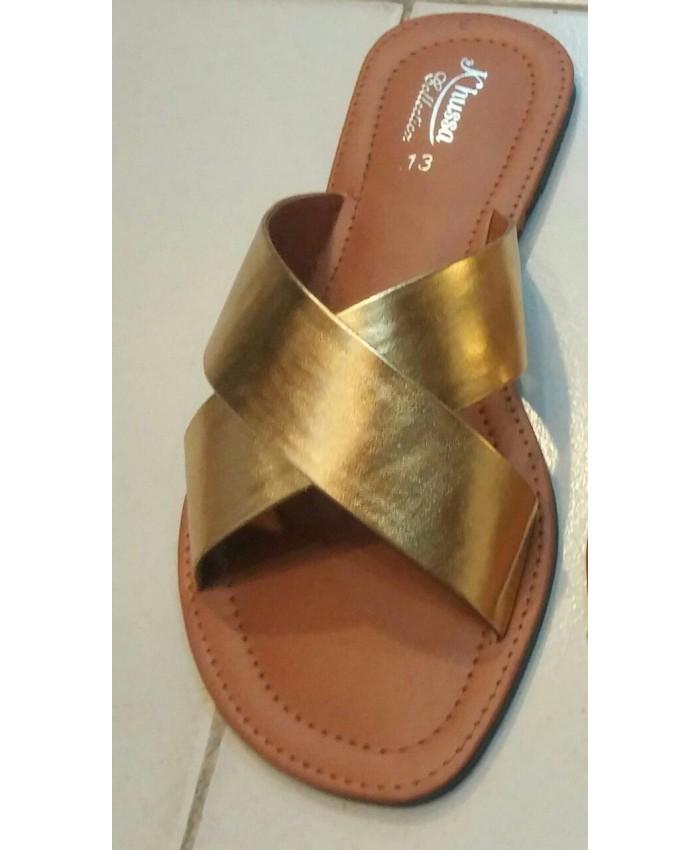 2 PATTI Kolhapuri - Silver Golden